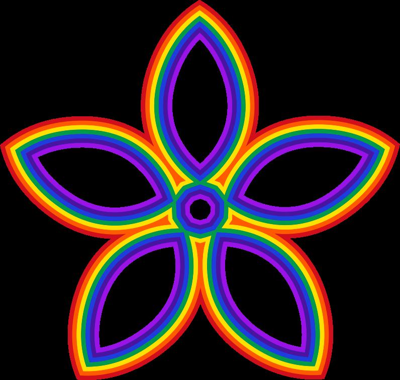Medium image png . Flower clipart rainbow