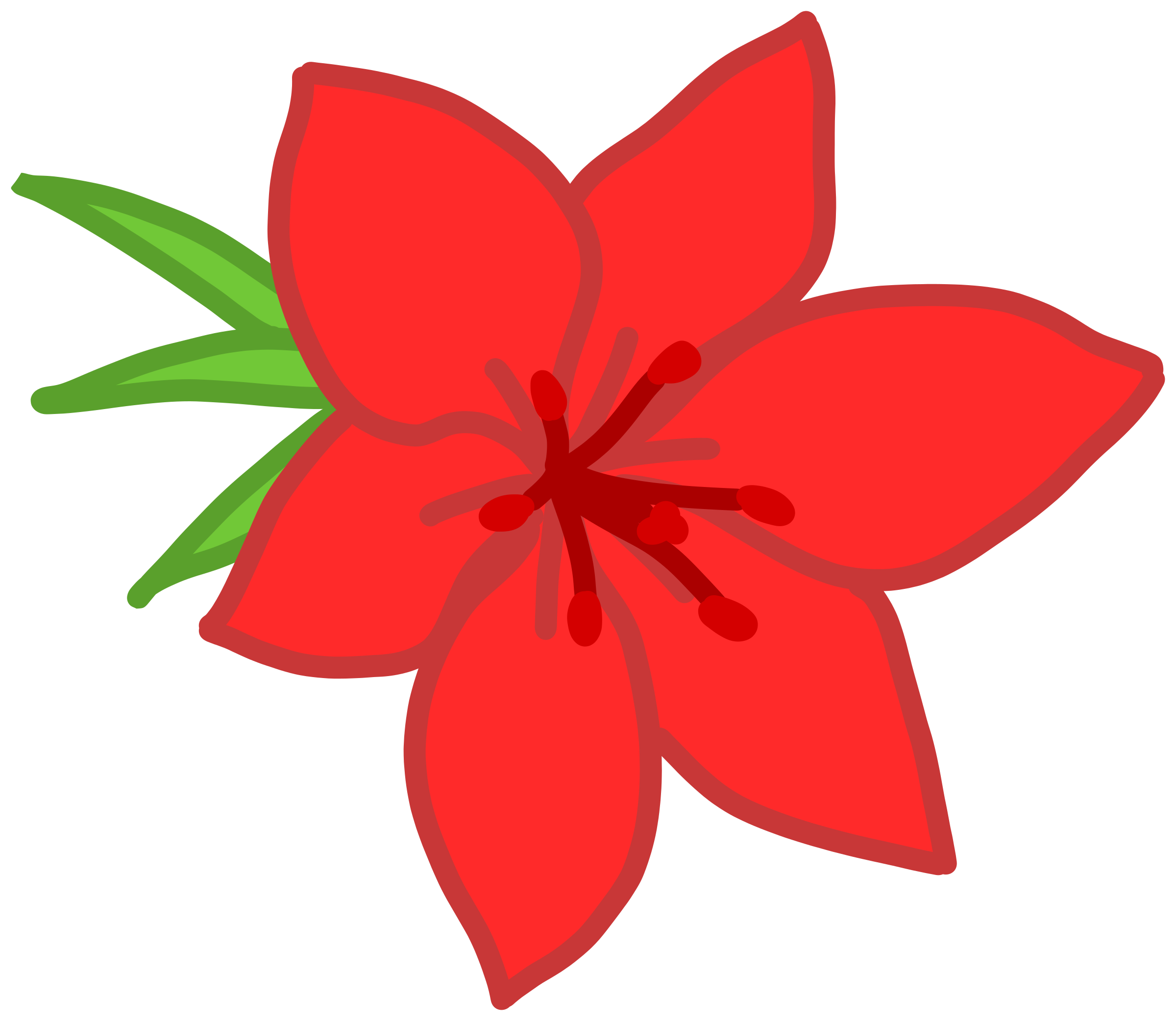 clipart flower red