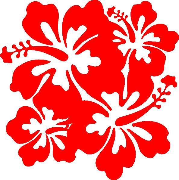 Red hawaiian flower pencil. Hibiscus clipart hawaian