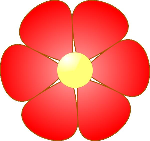 Clipart flower red. Clip art at clker