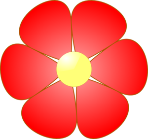 Free flowers cliparts download. Clipart flower red