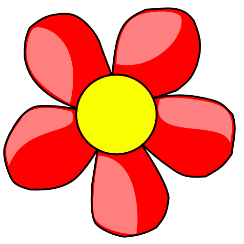 Clipart flower red. Free flowers cliparts download