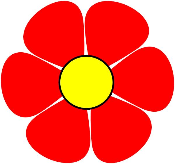 Clip art at clker. Clipart flower red