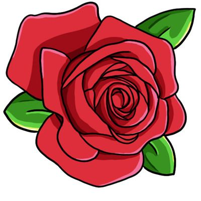 Free rose public domain. Clipart roses shape