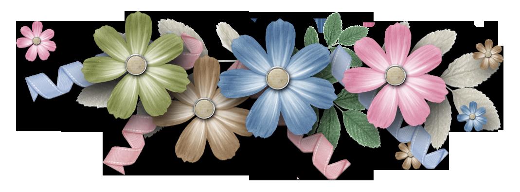 Clipart flower scrapbook. Png cluster freebies free