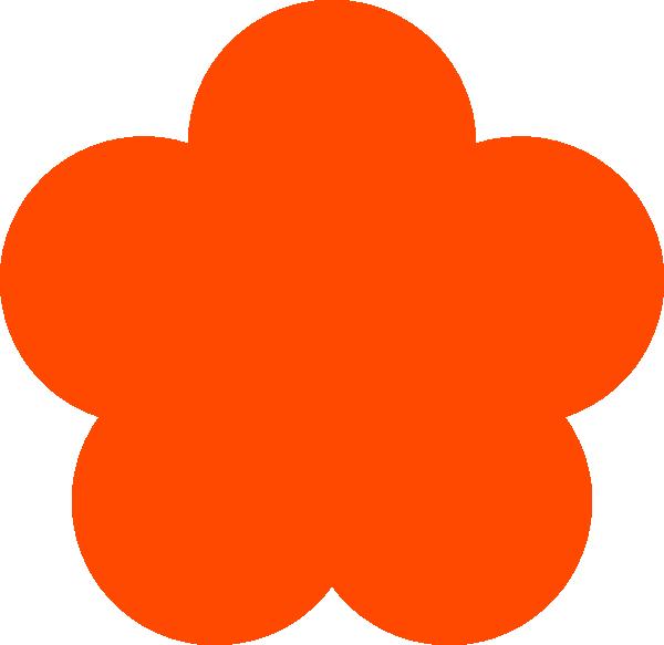 Orange yellow clip art. Flower shape png