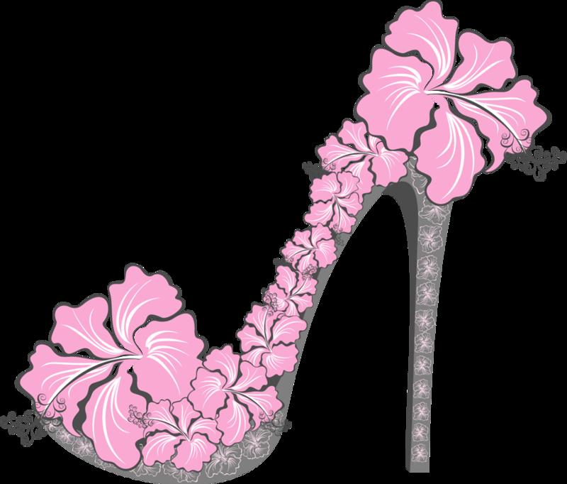 Flower clipart shoe. Heels pinterest clip art