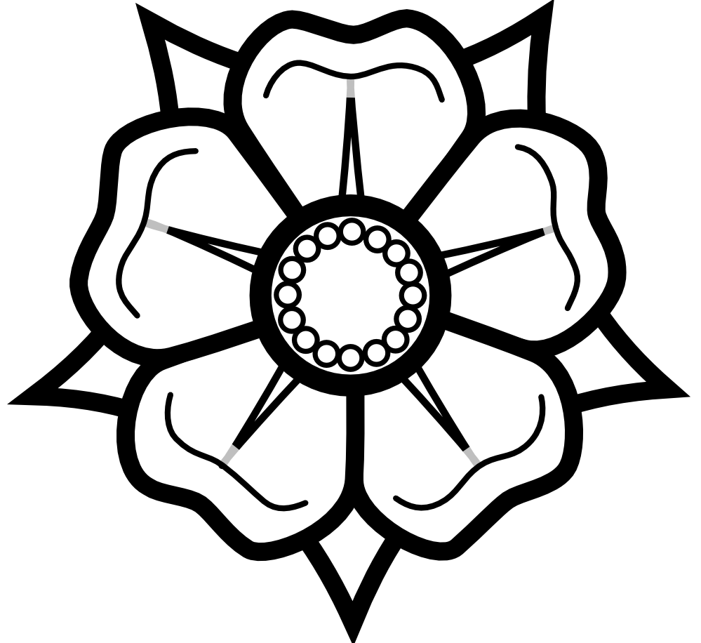 Flower black and white. Rose clipart head