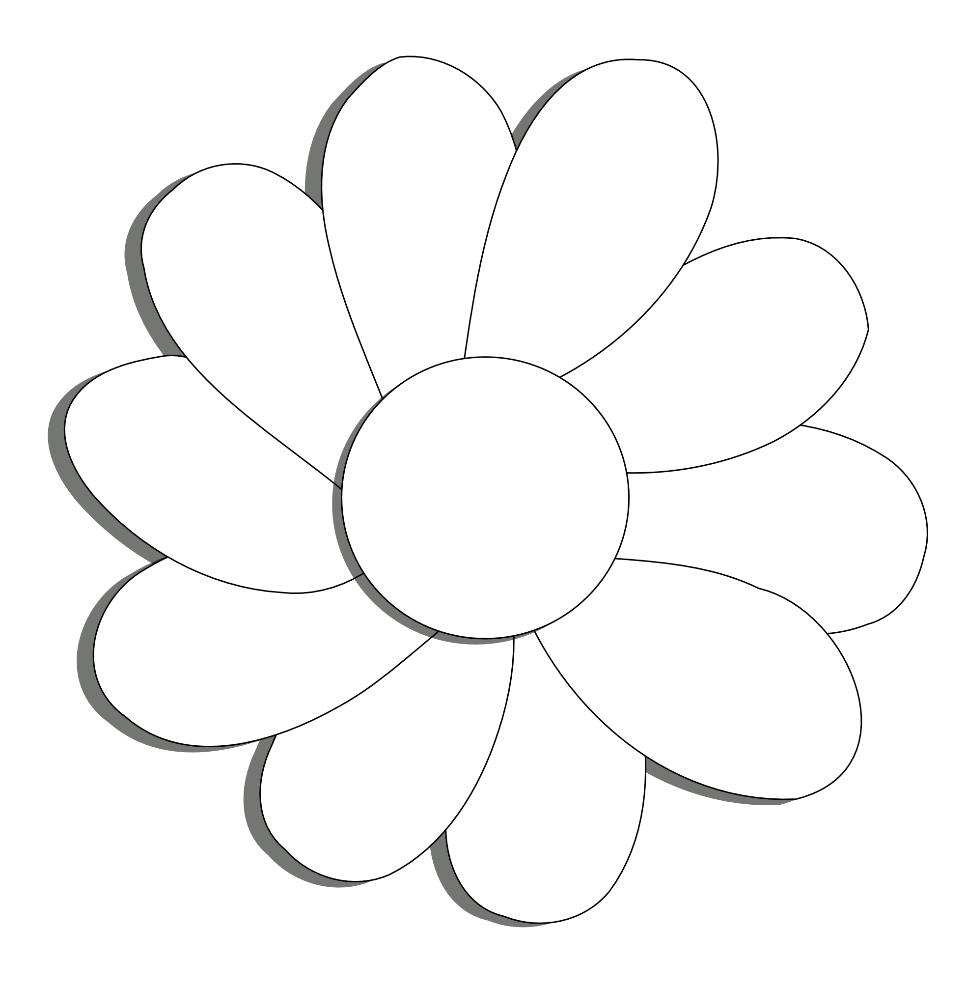 Clipart flower sketch. Black and white drawing