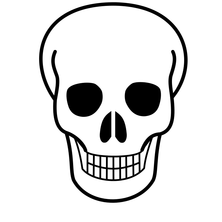Line art free download. Clipart flowers skull