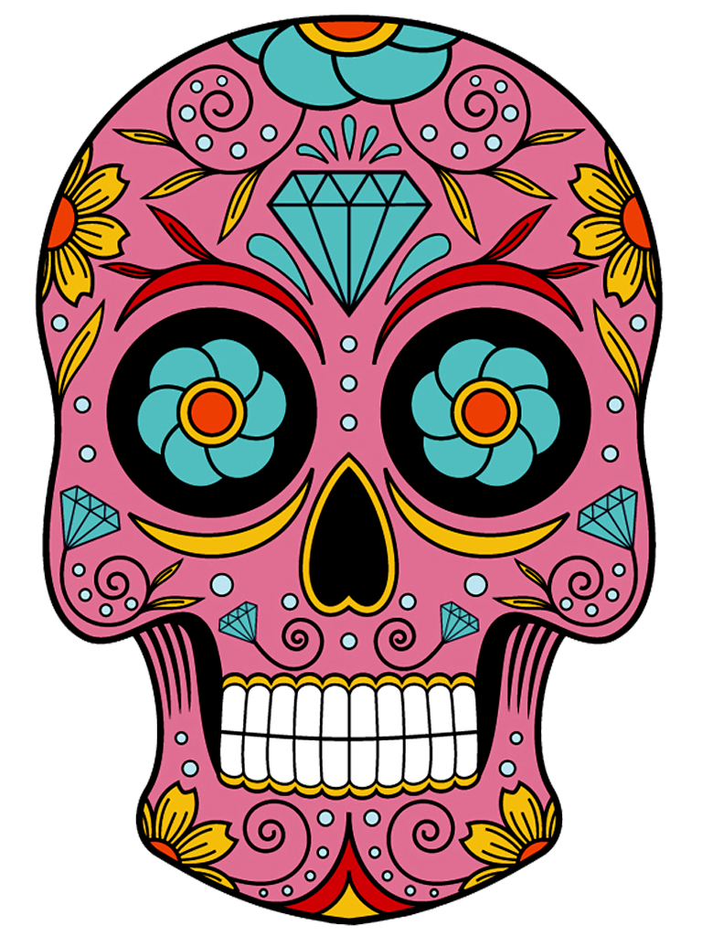 Sugar skull at getdrawings. Death clipart scull