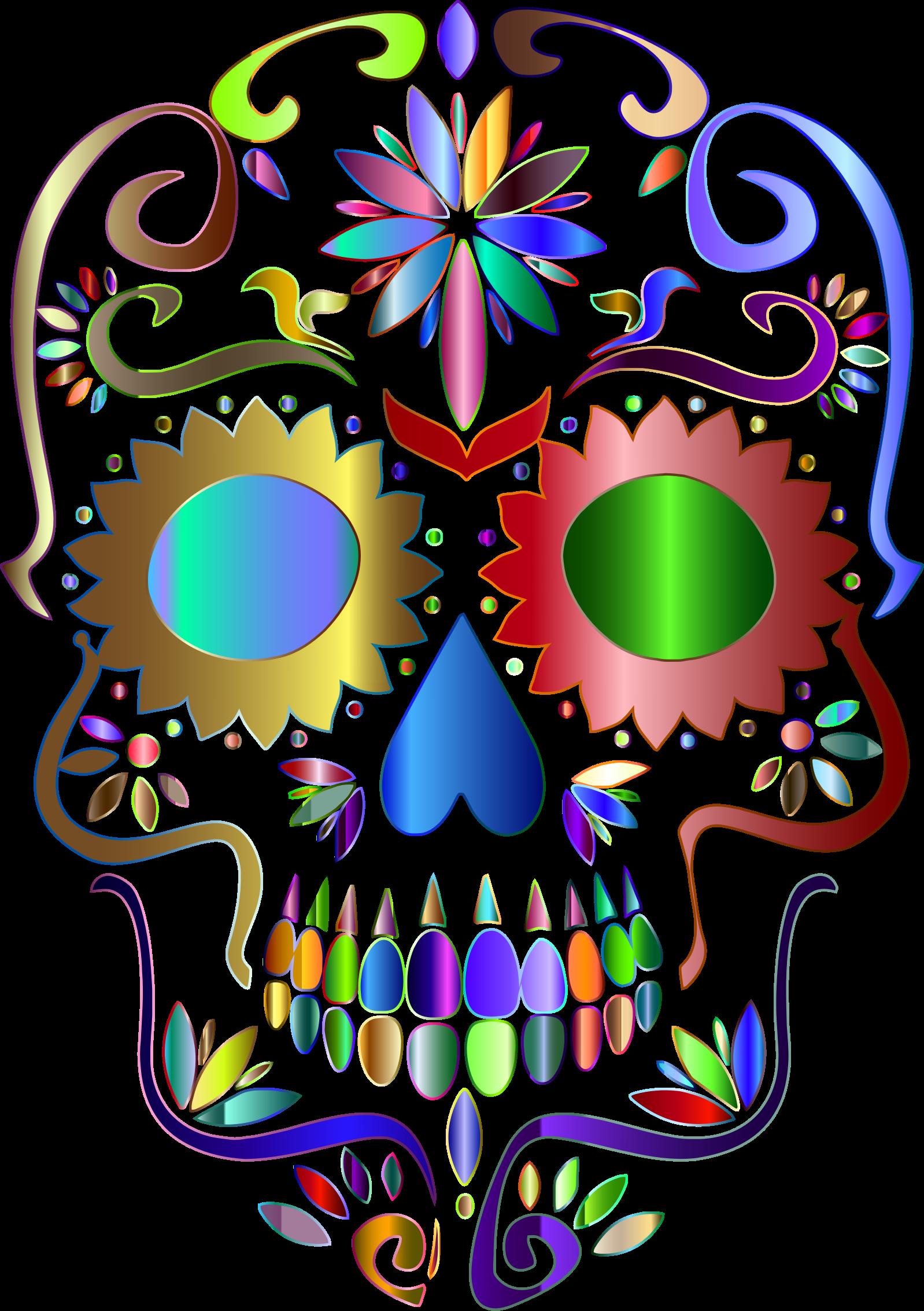 Clipart flower skull. Sugar silhouette at getdrawings