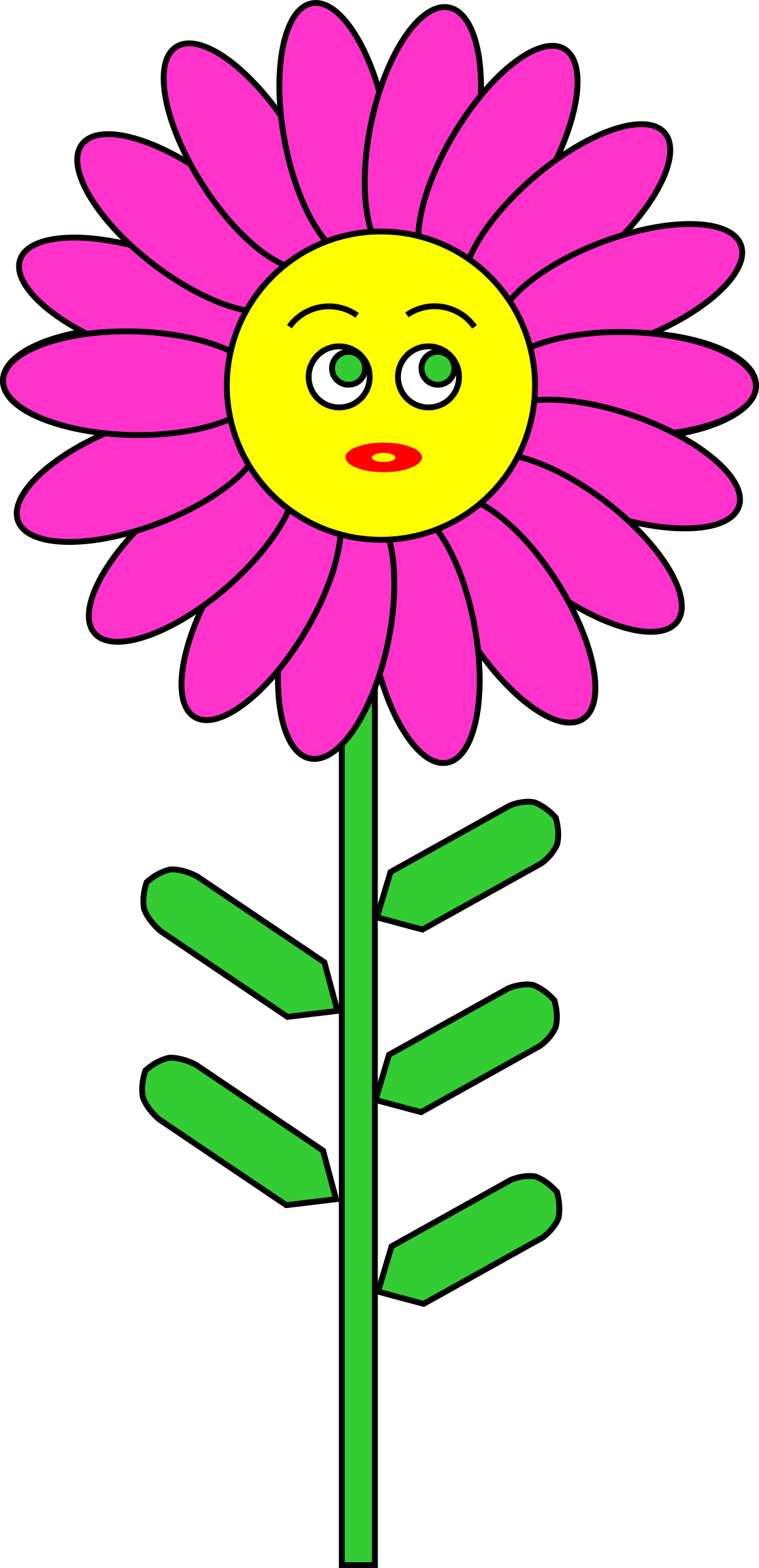 Flowers clipart smile. Purple flower with big