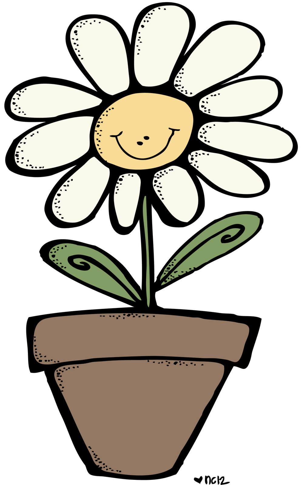 Melonheadz some days we. Flowers clipart smile