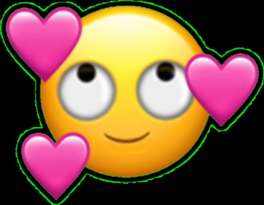 Emoji emoticon falling in. Facebook clipart smiley