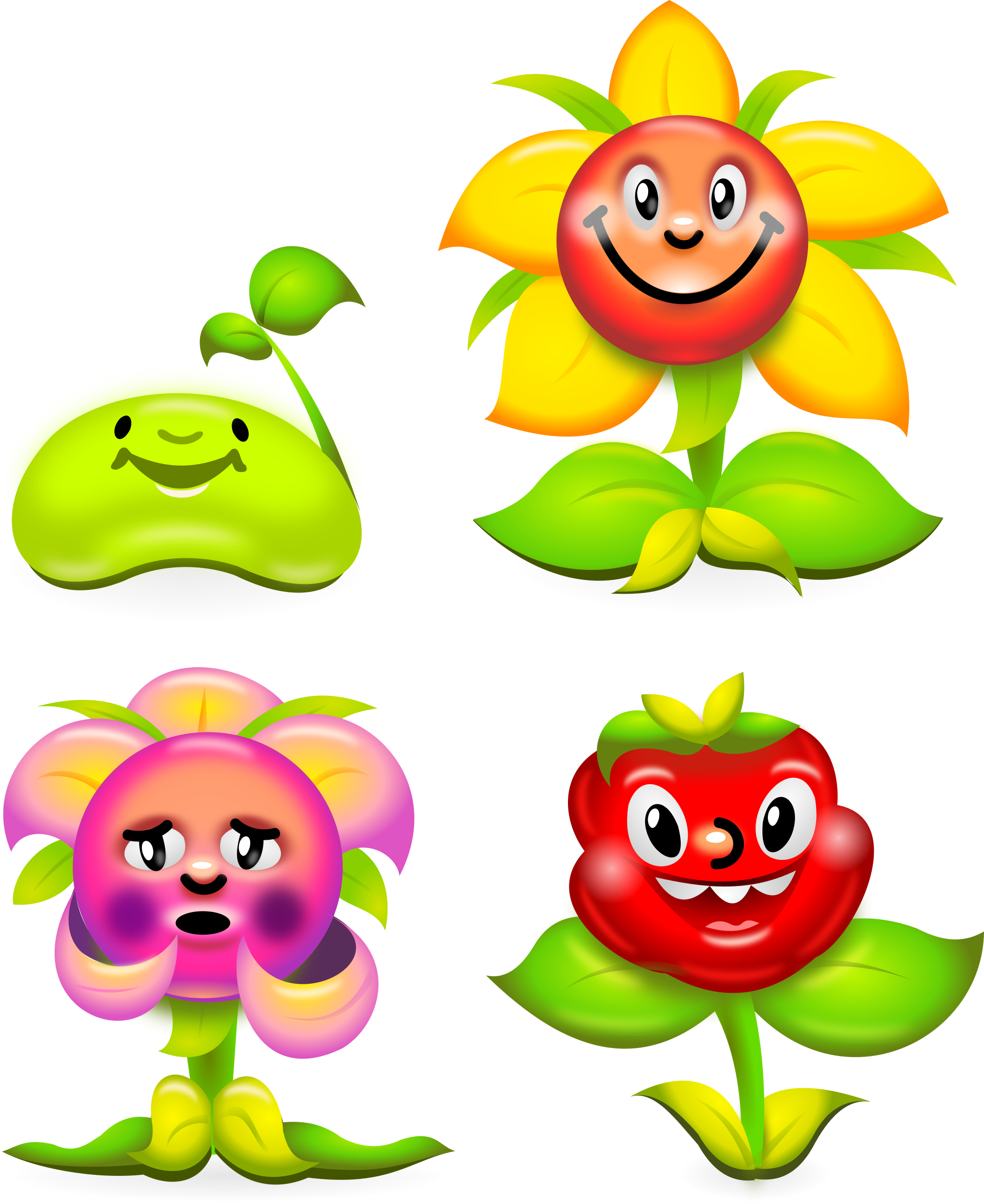 Game clipart summer game. Flower characters superb production