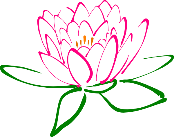 Day borders clip art. Lotus clipart beauty spa
