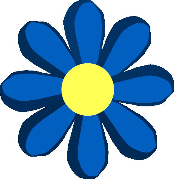 Blue flower clip art. Sunny clipart spring day