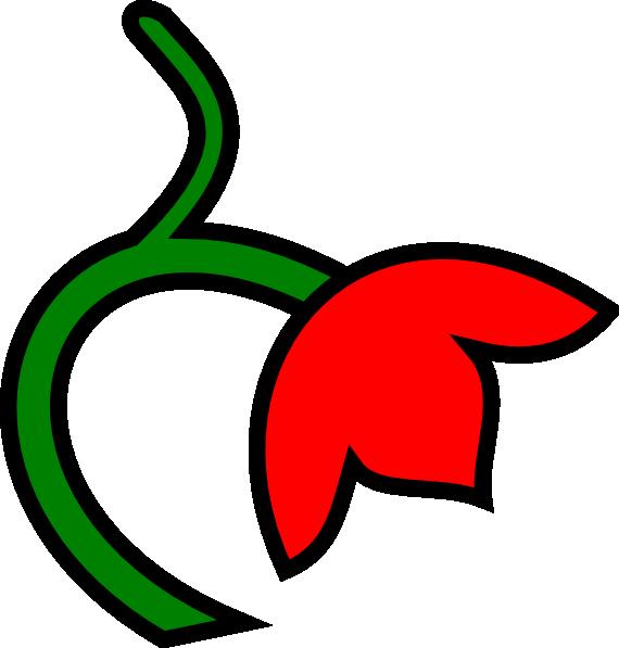 Flower clipart stems. Stem color clip art