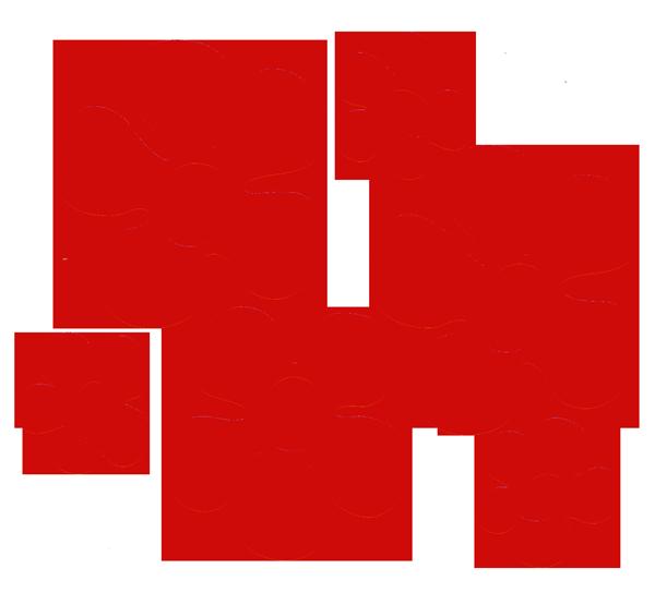 Clipart flower sticker. Vinyl cutout rub on