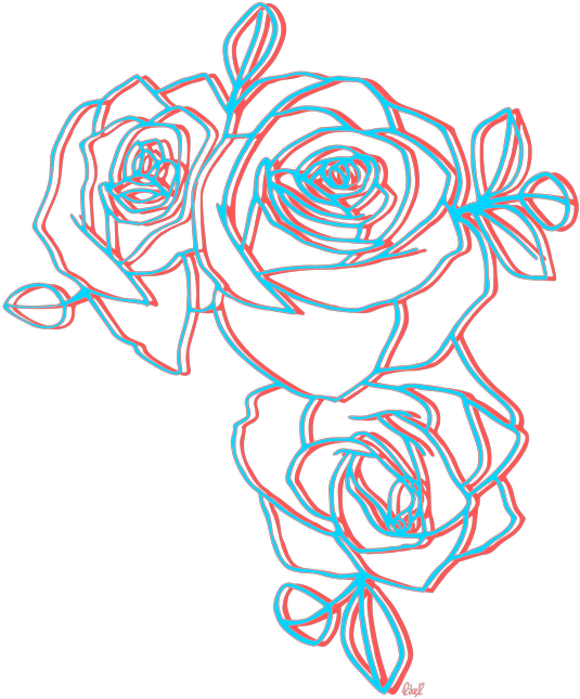 Aesthetic flower png. Rose sticker by carol