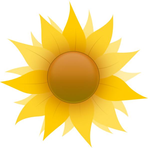 Harvest clipart sunflower. Small flowers images cartoon