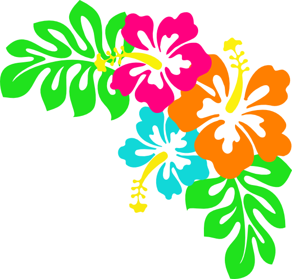 Tropical leaves clip art. Hibiscus clipart real