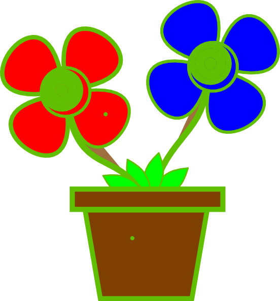 Clipart flower vase. Flowers in a clip