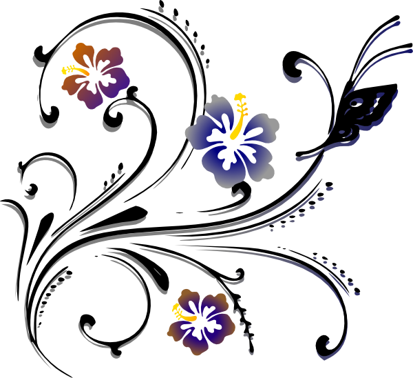 Decorative clipart scrolling. Butterfly scroll png svg