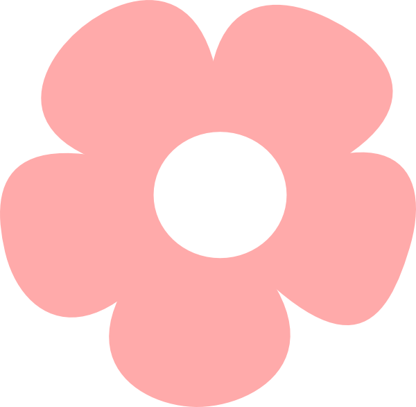 Pink clip art at. Simple flower png