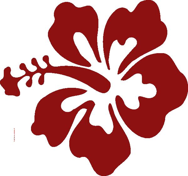 Hibiscus clipart hawaian. Flower red clip art
