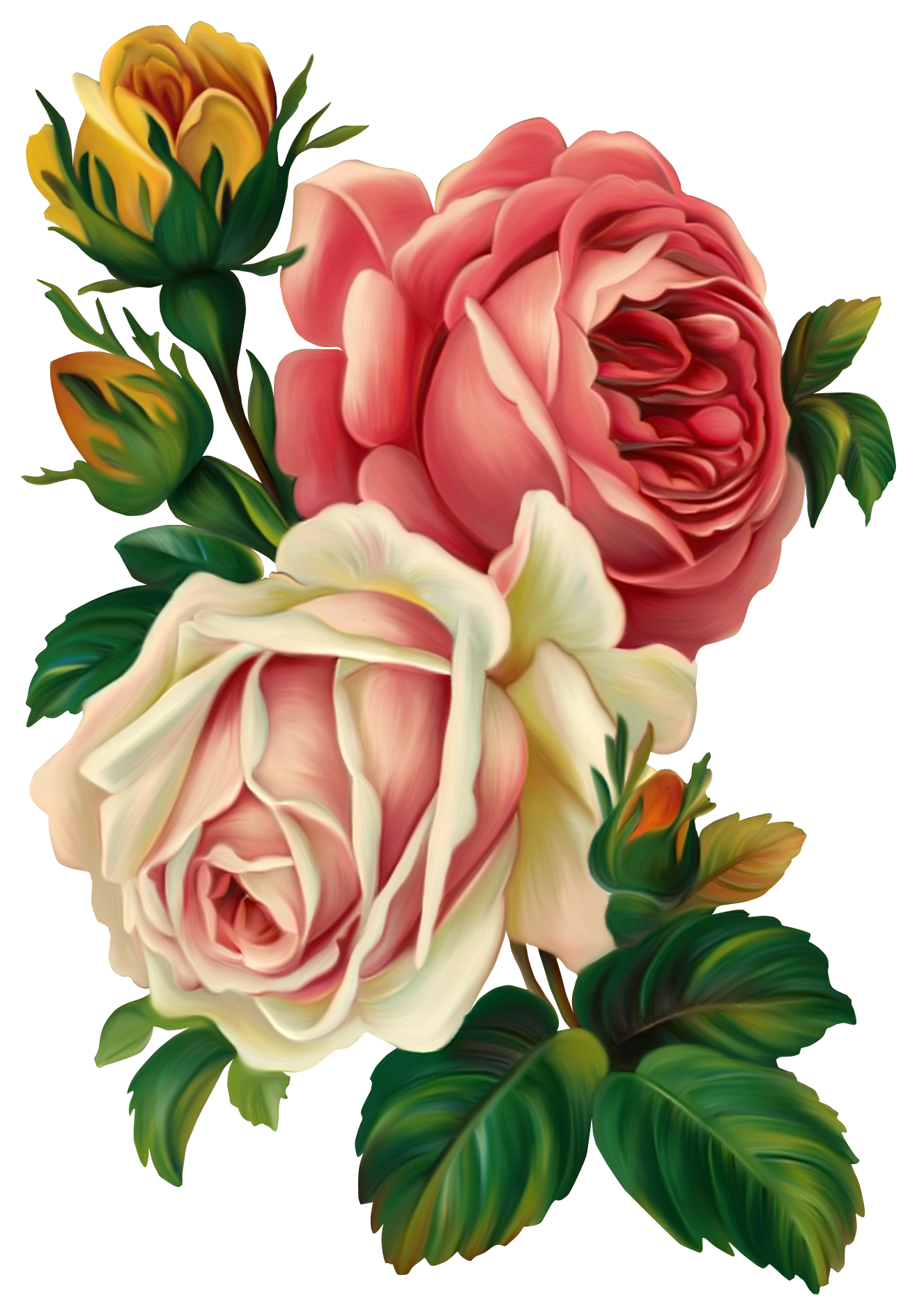 Clipart roses cross. Vintage flower c utare