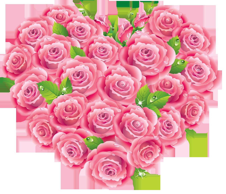 Heart clipart garden. Pink roses elaine pinterest