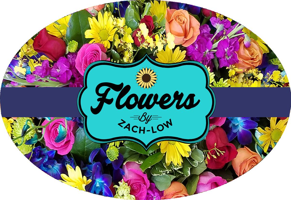 Flowers clipart vendor. Flowersbyzachlow newlogo png