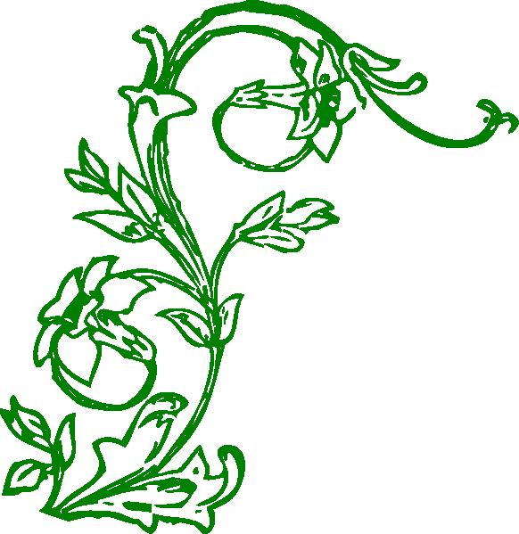 Flowering clip art at. Clipart flowers vine