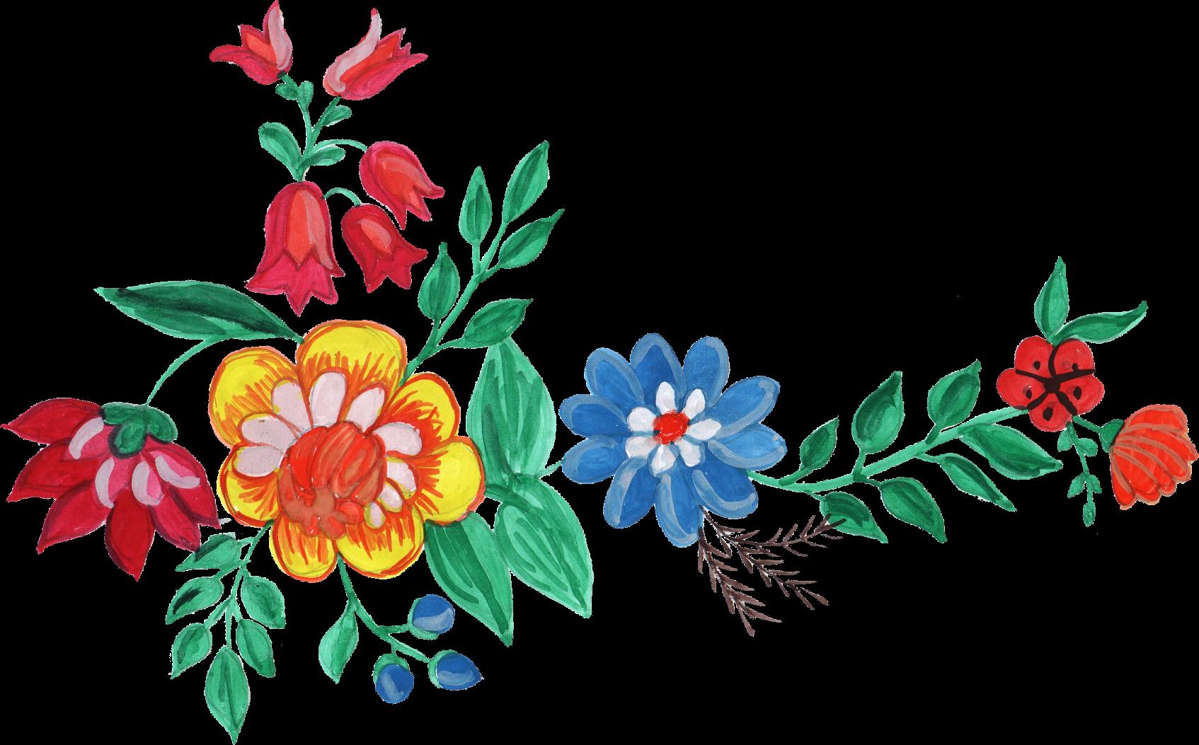 flower corner png. Floral clipart watercolor