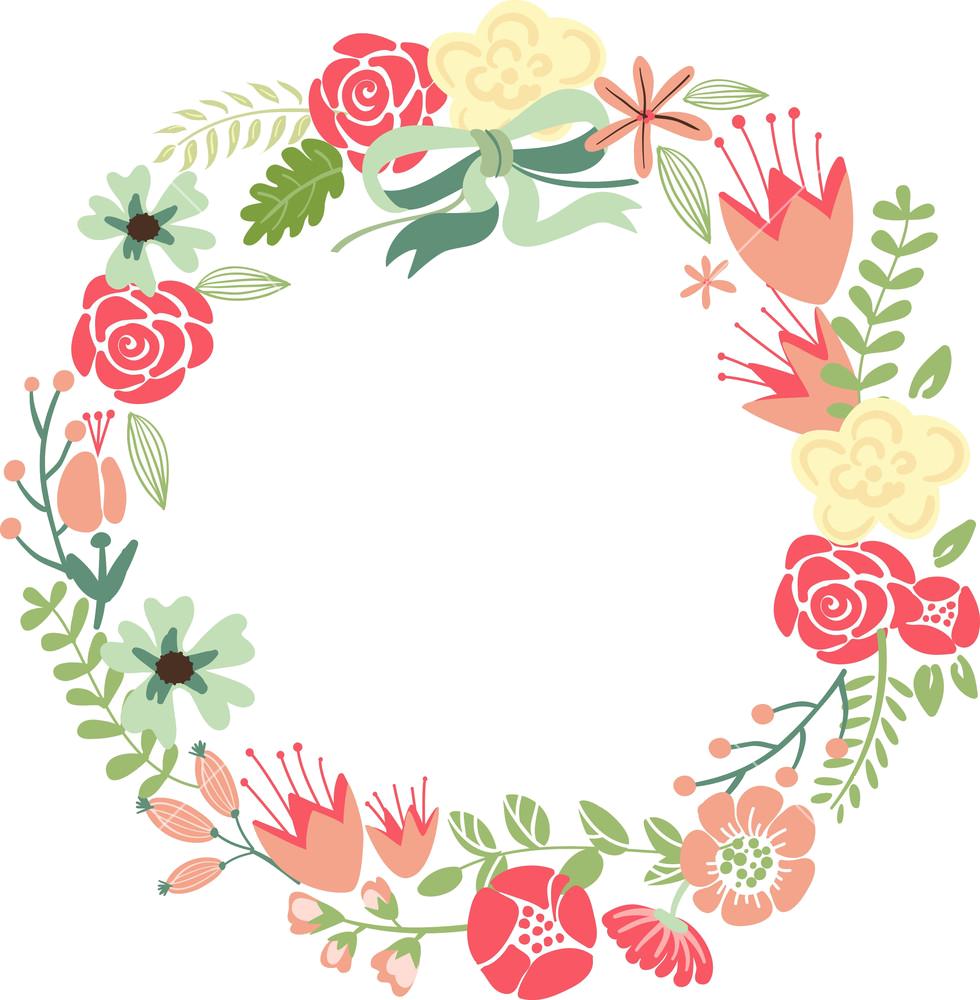 Floral frame png. Flower wreath hd transparent