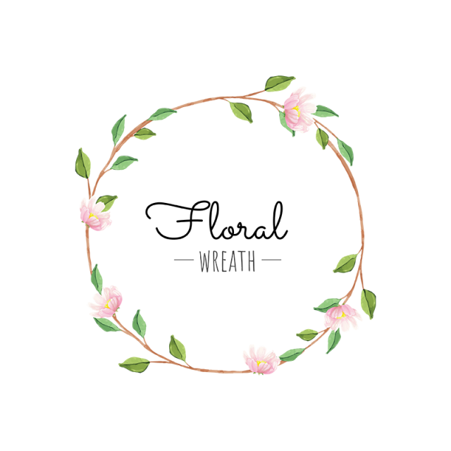 Flower green png and. Halloween clipart wreath