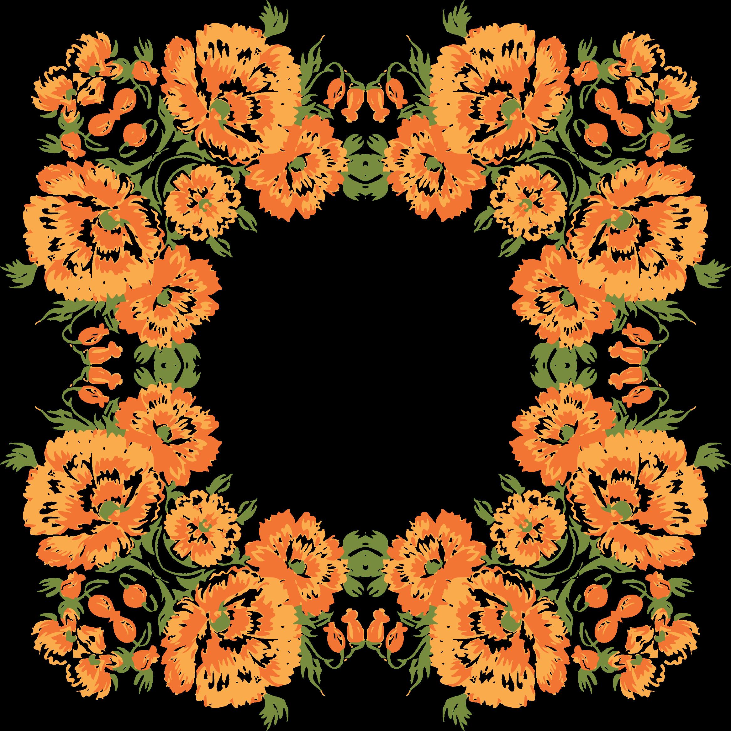 Floral clipart wreath. Frame big image png