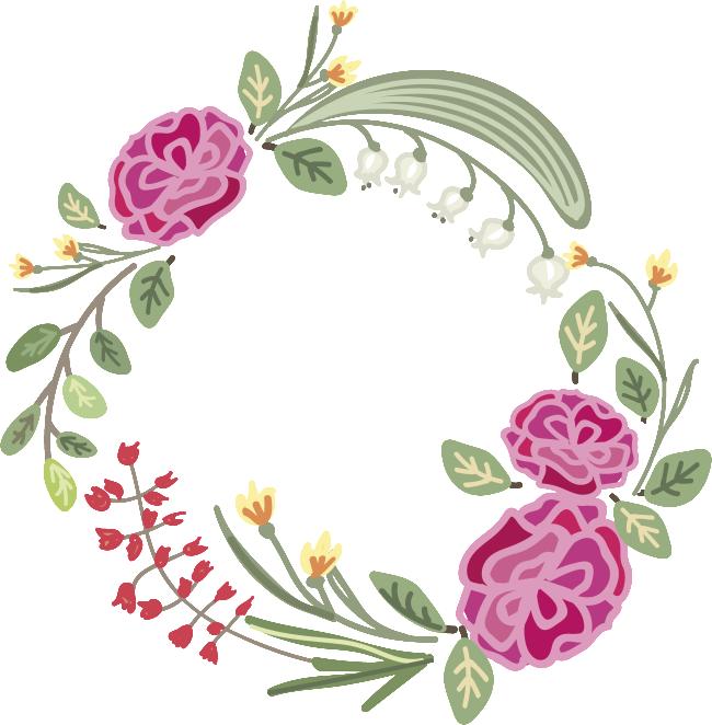 Transparent flower wreath material. Vines clipart eucalyptus