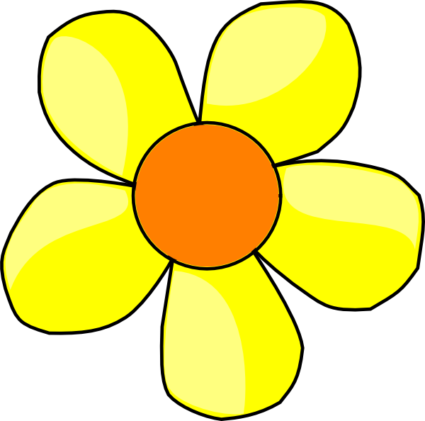 Flower clip art at. Flowers clipart yellow