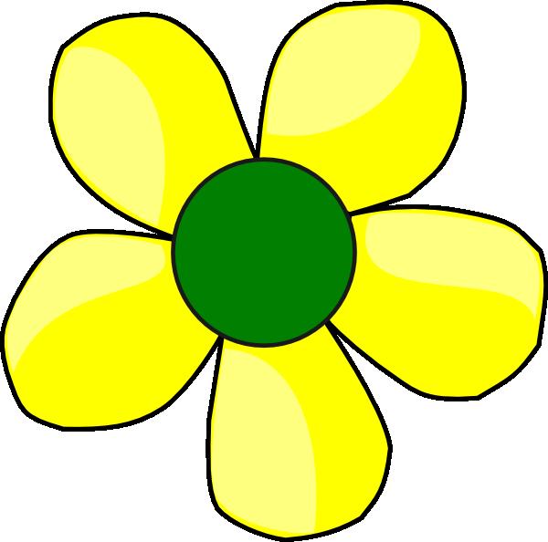 Clipart flower yellow. Clip art at clker