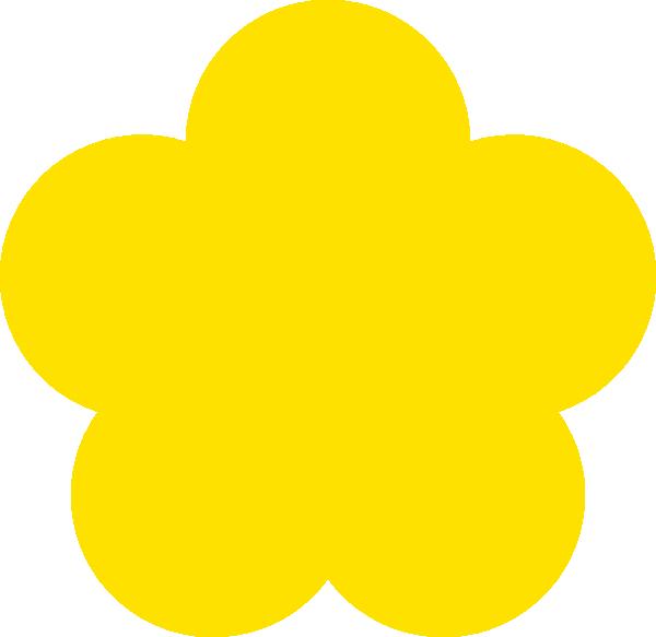 Clip art at clker. Clipart flower yellow