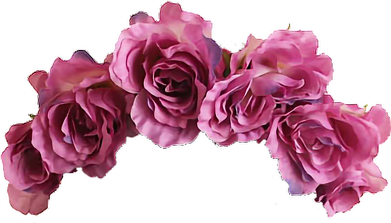 Flowercrown aesthetic vaporwave tumblr. Purple flower crown png