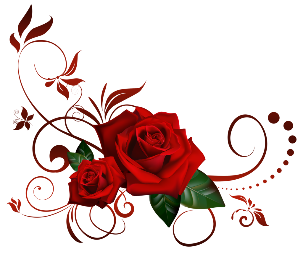 Rose clipart borders. A heart frame with