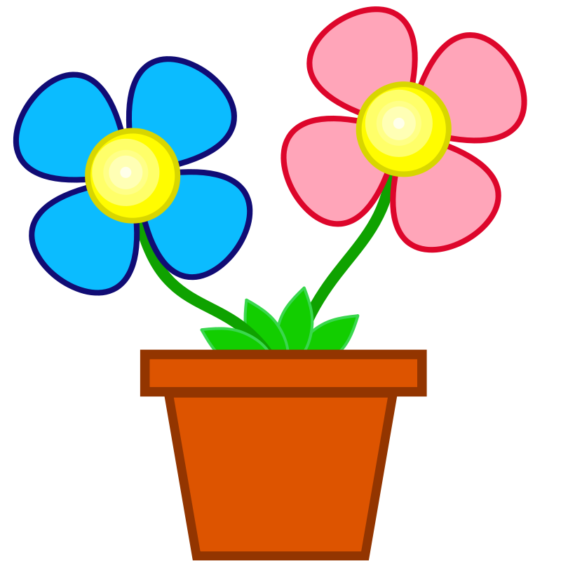 Clipart flowers animated.  collection of four