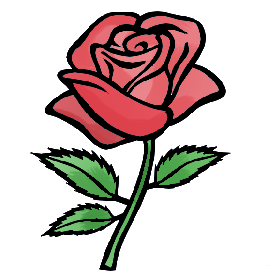 Free cartoon roses download. Clipart flowers animated