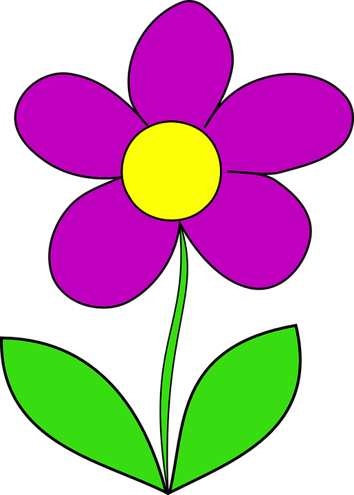 Collection of girl cliparts. Clipart flowers animated