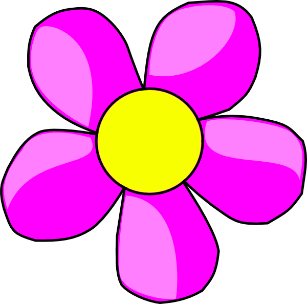 Dice clipart pink. Flower clip art at