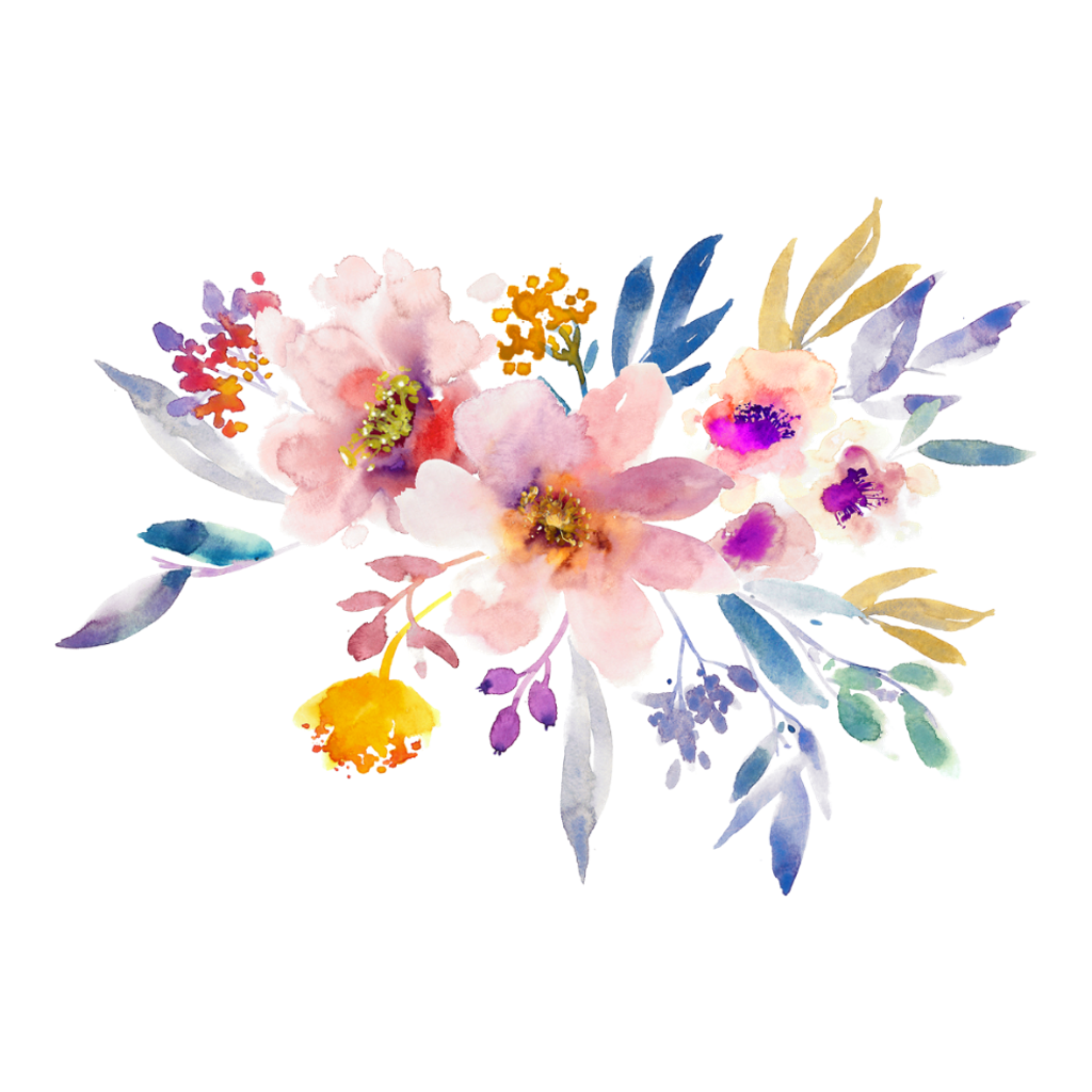 January clipart watercolor. Bloom frame flower border